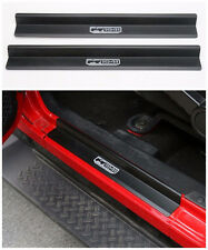 Aluminum Door Sills Plate Guards -Black for Jeep Wrangler JK 2 Door 2007-2016