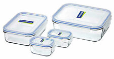Glasslock Tempered Glass Food Container Set - 4 Piece Containers