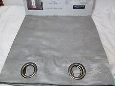 Decor Raw Silk Jacquard Collection PERU Black Pearl Grommet Panels 2(40x84) Gray
