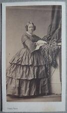 Photo Cdv Albuminé Femme Par Pierre Petit Paris Vers 1860