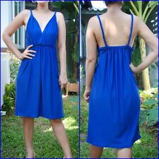 New-Sexy-Beach-Party-Solid-Plain-Summer-Women-Navy Blue - Short-Dress-Size - XL