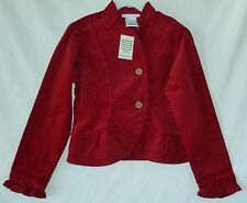American Girl Rusty Red Corduroy Blazer Jacket Coat Long Sleeve everyday cotton