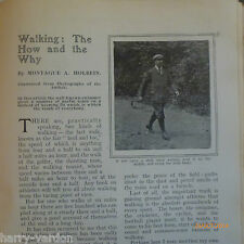 Walking Race Walk Style Stick Boots Exercise Old Edwardian Antique Article 1906