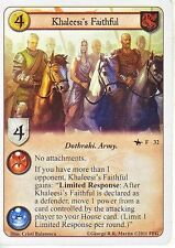 3 x Khaleesi's Faithful AGoT LCG 1.0 Game of Thrones The Grand Melee 32