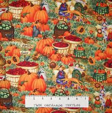 Fall Fabric - Harvest Angels Pumpkin Apple Scene - Spectrix SPX YARD
