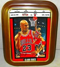 Michael Jordan 25,000 Points Limited Ed Plate Ticket To Greatness Chicago Bulls
