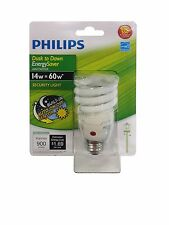 Philips 405852 Energy Saver Compact Fluorescent Dusk-to-Dawn 14-Watt Twister ...