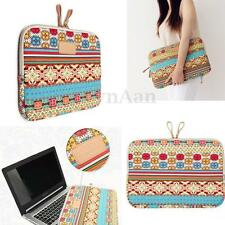 "Bohemian Soft Canvas Laptop Sleeve Case Bag for 14"" 13.3"" Macbook Air Pro Retina"
