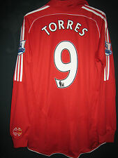 Liverpool 2007-08 EPL ADIDAS Formotion Player Issue Home Shirt 9 Fernando TORRES