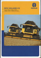 "New Holland ""CX Series"" Combine Brochure Leaflet"