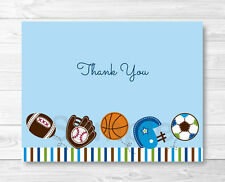 Sports Football Baseball Soccer Thank You Card Printable