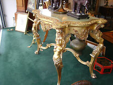 18th To Early 19th Century French Or Italian Gilded Rococo Center Table Onyx Top