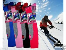 3 Ladies Branded ERBRO Thermal Padded Long High Performance Ski Socks UK 4 - 7