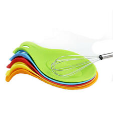 Kitchen Cooking Silicone Heat Resistant Spoon Holder Tool Accessory Practical