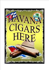 Retro Style vintage Cuban Cigar Advertising  Sign  door sign, Cuba Havana Sign