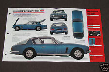 1966-1976 JENSEN INTERCEPTOR (1968) CAR SPEC SHEET BOOKLET PHOTO BROCHURE