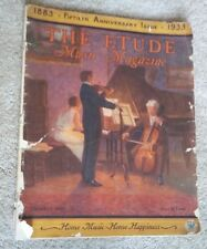 THE ETUDE MUSIC MAGAZINE OCTOBER - 1933 - 50th ANNIVERSARY ISSUE - 1883 - 1933