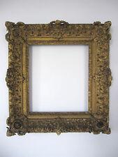 Superbe cadre ancien vers 1700 Louis XIV bois sculpté doré A restaurer 66 x 72cm
