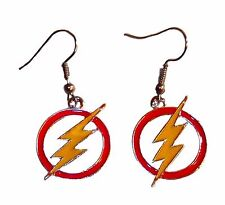 DC's The FLASH Lighting Bolt Symbol Metal French Wire EARRINGS