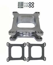 "HOLLEY EDELBROCK AFB Carburetor Carb Spacer ALUMINUM 2"" 2 Inch Open 4 BBL A109"