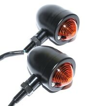Motorcycle Retro Harley Bobber Bullet Style Indicators Satin Black