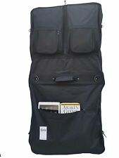 """46"""" Garment Cover Bag for Suits and Dresses Clothing Deluxe Pockets Carry"""