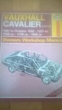 VAUXHALL CAVALIER HAYNES CAR MANUAL