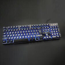 Rii RK100 3 LED Color Backlit Wired Multimedia Gaming Keyboard for PC Computter