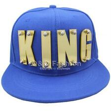Fab Gold Mirror KING Letters Word Snapback Baseball Flat Cap Hat Screw Hip Hop