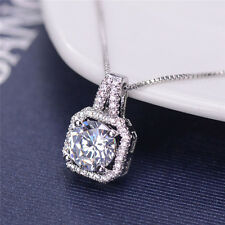HOT Womens Crystal Charm Pendant Jewelry Chain Chunky Statement Choker Necklace