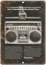 "Panasonic Boombox Ghetto Blaster 10"" x 7"" reproduction metal sign"