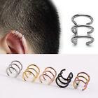 1pc Titanium steel Hoops Closure Fake Cartilage Clip Ear Cuff Earring E0273H