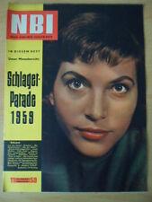 NBI 11/1959 * Brigitte Krause Schlagerparade Fernsehen-Farbe 400 Meter Schacht