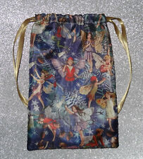 Vintage style Satin Fairy Tarot Card Bag, ideal for, Pagan & Wicca tarot cards