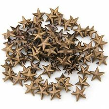 100X Bronze Rivets applies 15mm star rivets bag / Shoes / Gloves LW