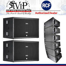 """6x RCF HDL 20-A Active Line Array 1400W + 2-SUB 8006-AS Dual 18"""" 5000W Subwoofer"""