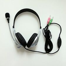 Computer PC Headset Headphone with MIC Microphone 3.5mm Stereo for Gaming Skype