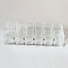 Cosmetics 12Lipstick Clear Acrylic Organizer Stand Display Holder Rack Case