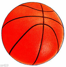 "5"" SPORTS BALL BASKETBALL  PREPASTED WALL BORDER CUT OUT"