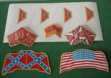 VINTAGE BRITAINS ,EYES RIGHT,9 x GUARDS flags, drum decals and ACW flags in vgc