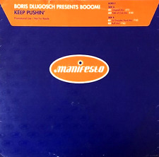 "BORIS DLUGOSCH PRESENTS BOOOM! - Keep Pushin' (12"") (Promo) (G+/G+)"