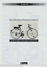 "Prospetto Rixe comfortable 28"" BICICLETTA 1984 BICICLETTA prospetto brochure bicycle bike"