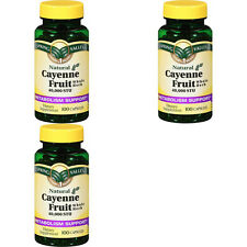 LOT 3 Spring Valley Cayenne Pepper (300) Capsules Pills Capsaicin 40,000 STU