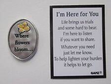 q where flowers bloom so does hope I'm Here for You Pocket Token inspirational