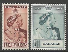 BAHAMAS*GOOD AS GOLD* Sc#148-9 SILVER WEDDING 1948 VFINE MNH