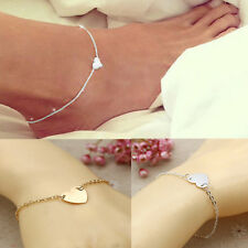 Heart Love Ankle Anklet Bracelet Sandal Beach Sexy Foot Chain Jewelry 1pc Silver