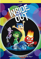 Inside Out (DVD, 2015) Disney Factory Sealed with Slipcover New Free Shipping