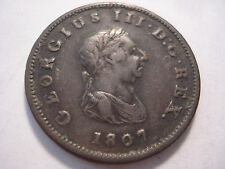 Great Britain Uk 1807 Half Penny Copper Coin