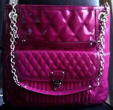 COACH Poppy Quilted Patent Leather Large Slim Tote Purse F19830 Magenta/Pink