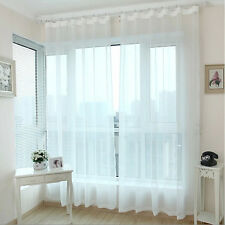 Elegant Style Transparent Voile Sheer Curtain for Living Room Balcony Kitchen